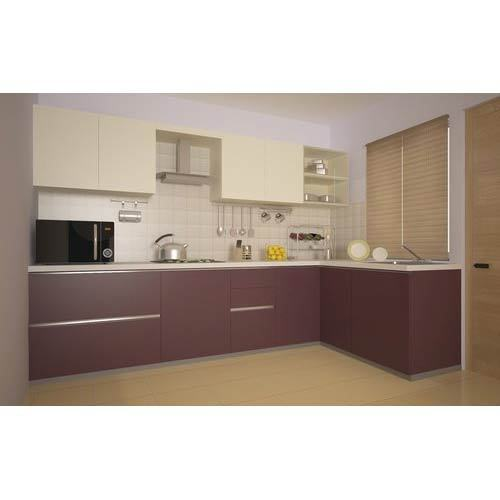 L Shaped Modular Kitchen At Rs 1200 /square Feet