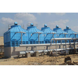Fiberglass Reinforced Polyester Cross Flow Industrial Cooling Tower, Induced Draft