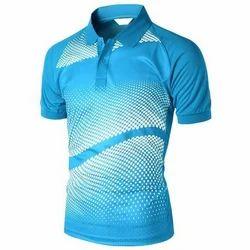 Men Blue Digital Printed T Shirts