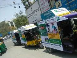 Led Screen Banner Auto Rickshaw Advertising Services, Mode Of Advertising: Outdoor, Size: Varies