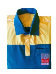 Printed Collar Neck Men Cotton Casual T Shirt, Size: Medium