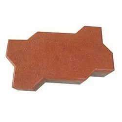 Zig Zag Cement Paver Block, Thickness: 12 - 14 mm