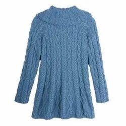 Full Sleeve Blue Ladies Woolen Pullover