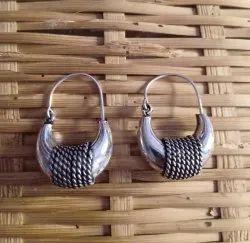 Silver Look Brass Earrings