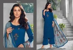 Reyna Nola Series 301-305 Stylish Party Wear Cotton Satin Suit