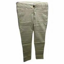 Plain Men Cotton Chinos Trousers, Size: 28-32