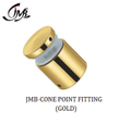 Stainless Steel Cone Point Fitting Golden Finish