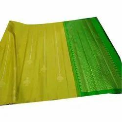 Wedding Traditional Banarsi Silk Saree, Machine Made, 5.5 m (separate blouse piece)