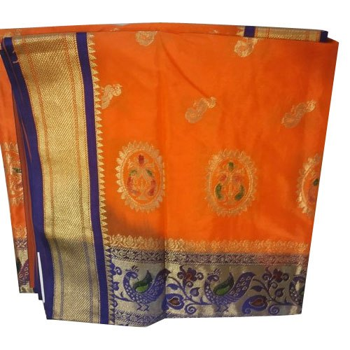 Multicolor Party Wear Fancy Art Silk Sarees, 6.3 m (with blouse piece)