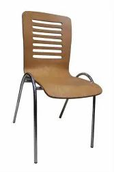 Omacme Brown CP 715 Wooden Cafeteria Chair, Seating Capacity: 1 Seater
