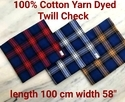 Cotton Yarn Dyed Twill Check
