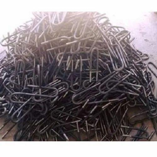 Galvanized Mild Steel U Bolt, Thickness: 3-5 Mm