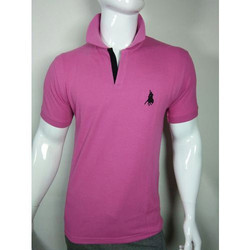 Mens Pink Polo T Shirt