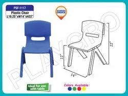 Playgro PSF-1117 Blue Plastic Chair, Size: 16.25 X 14 X 22 inches