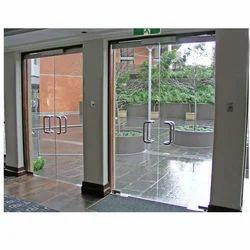 Fortune Hinged Frameless Glass Double Door, For Office