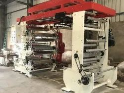 Y rapha Stainless Steel Roll To Roll Flexographic Printing Machine, Number Of Colors: 1-8