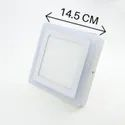 6W White Plus 3W Side Pink Square Surface Panel Light