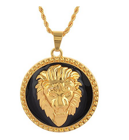 Geema fashion gold lion king pendant with chain for men gents geema fashion gold lion king pendant with chain for men mozeypictures Gallery