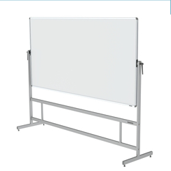 White Mobelio Revolving Whiteboard Stand, Stand Material: Metal
