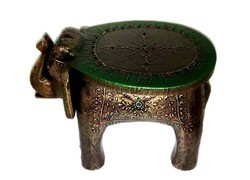 Stool Green Elephant