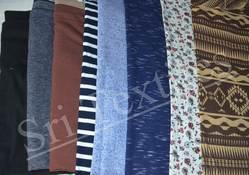 Cotton Blue And Brown Fabric, 150-200 GSM