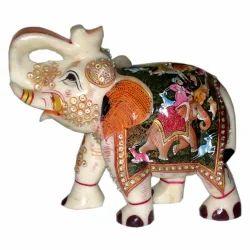 Marble Painted Shikar Elephant