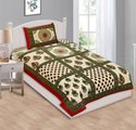Floral Print Cotton Single Bed Sheet