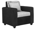 Black And Grey Bharat Lifestyle Tulip Fabric Sofa Set, Warranty: 1 Year