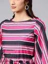 Printed Stripes Tie-Up Top