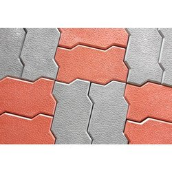 Red And Grey Cement Zigzag Blocks