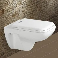 Acravit White Marvel Wall Hung Toilet Seat, For Home,Hotel, 355 X 490 X 360 Mm