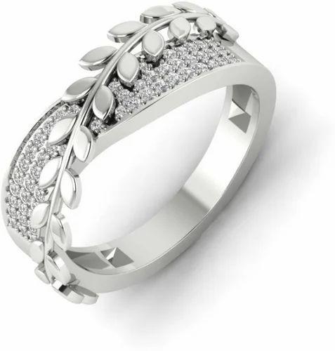 Zevrr 92 5 Sterling Silver Leaf Shape Swarovski Zirconia Platinum Plated Ring 925 À¤–र À¤š À¤¦ À¤• À¤… À¤— À¤ Sukhmani Fashions New Delhi Id 19900677373
