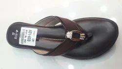 Ladies Coffee Flat Sandal, Size: 6
