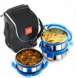 Cello Lunch Box Click Steel 3 Plus for School