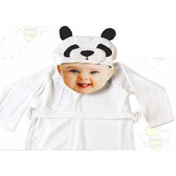 White Knitted Cotton Baby Robe