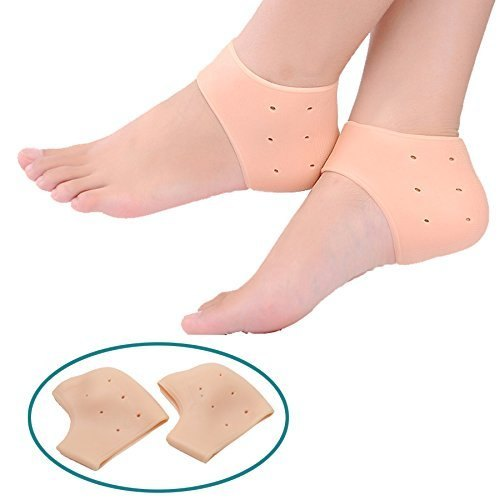 Deodap 1 Pair Reusable Foot Silicone Heel Socks For Pedicure Against Cracking