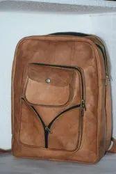 Unisex Genuine Leather Vintage Brown Backpacks