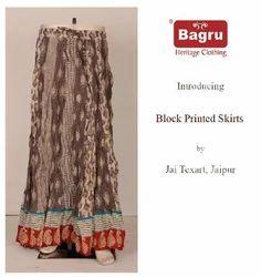 Block Printed Cotton Long Skirt