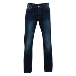 Blue Mens Slim Fit Faded Denim Jeans, Waist Size: 30 to 36 Inch