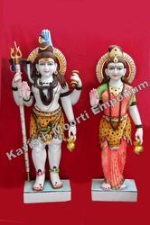 Marble Shiva Parvati Idol