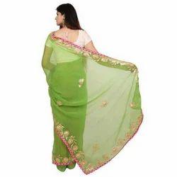 Green Casual Wear Saree