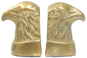 Vintage Bald Eagle Brass Bookends