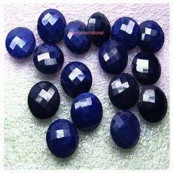 Blue Sapphire Round Double Checker Gemstones