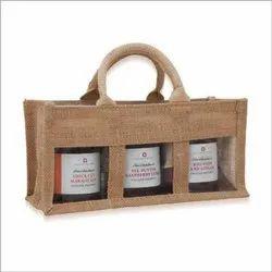 Plain Three Jar Jute Bag