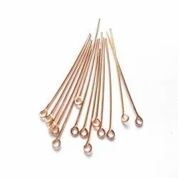 Rose Gold Plated Sterling Silver Eye Pins
