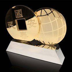 Globe Modern Brass Trophy