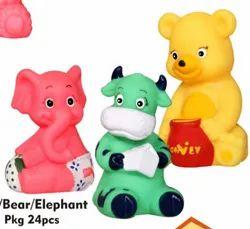 PVC Cow Bear And Elephant Toys
