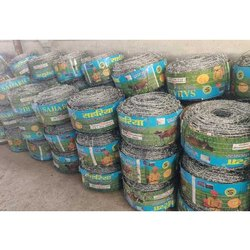 Sahariya Silver GI Barbed Wire, For Construction, Thickness: 10 Mm