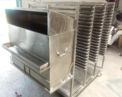 SS Plate Storage Trolley