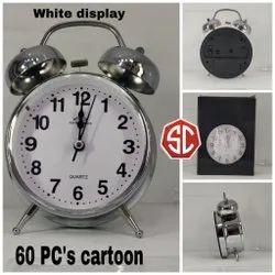 Big Silver Alarm Clock